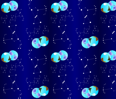 Earth_constellation01_9_13_2013 fabric by compugraphd on Spoonflower - custom fabric