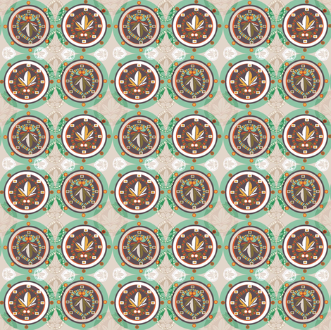 Architectural Circles fabric by slumbermonkey on Spoonflower - custom fabric