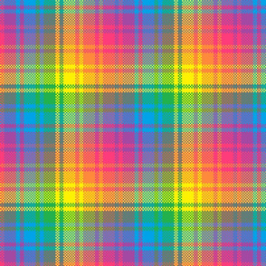 Rainbow Plaid 3