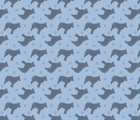 Standing Schipperke - blue