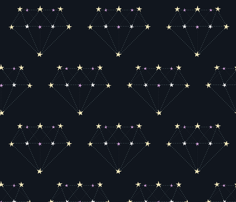 Diamond constellations fabric by petitspixels on Spoonflower - custom fabric