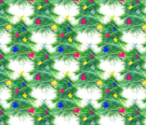 Modern Vintage Christmas ~ Tree Lot fabric by peacoquettedesigns on Spoonflower - custom fabric