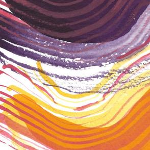 purple orange abstract