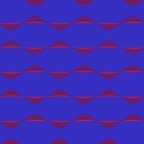 Berry Wavy Stripe Horizontal © Gingezel™