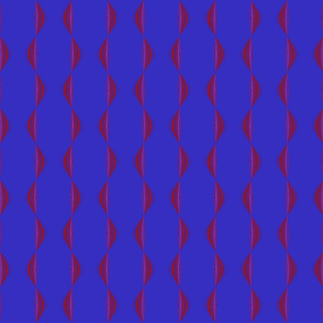 Berry Wavy Stripe Vertical © Gingezel™