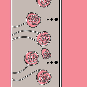 Art Nouveau Rose Border (Pink)
