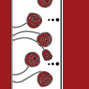 Art Nouveau Rose Border (Red)