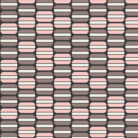 Macarons (Strawberry Mocha) fabric by kate_legge on Spoonflower - custom fabric