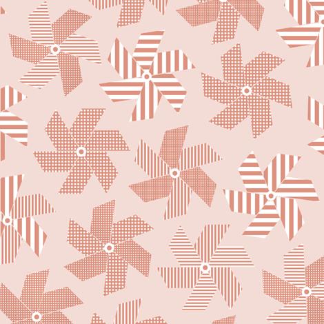 Pink Pinwheels fabric by rubydoor on Spoonflower - custom fabric