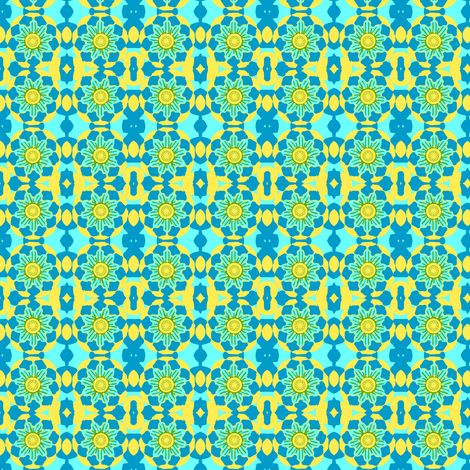 FLORAL BLUE AND YELLOW