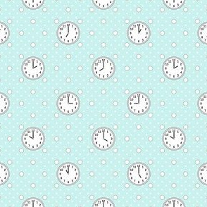 polka o'clock (cyan)
