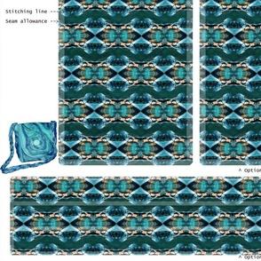 DIY handbag - fountain blue