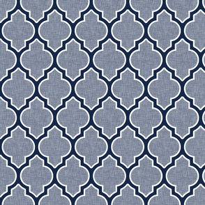 quatrefoil lattice in blue gray