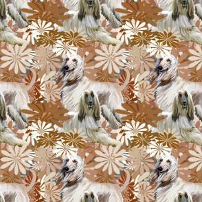 afghan hound  floral fantasy
