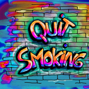QUITE SMOKING MULTICOLOURED PILLOW PANEL