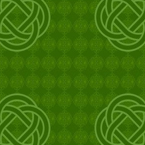 Green Celtic Knots