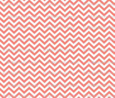 Simply Chevron in Coral