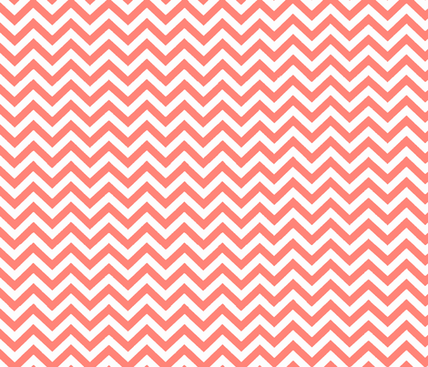 Simply Chevron in Coral  fabric by theartwerks on Spoonflower - custom fabric
