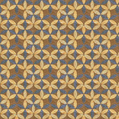 Mrs Morris' geometric on leather fabric by nouveau_bohemian on Spoonflower - custom fabric