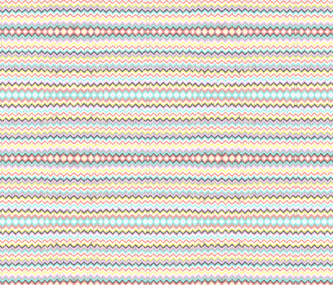 Ikat Inspired Chevron in Aztec Sunrise fabric by theartwerks on Spoonflower - custom fabric