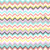 Ikat Inspired Chevron in Aztec Sunrise