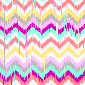 Ikat Chevron in Beach Party