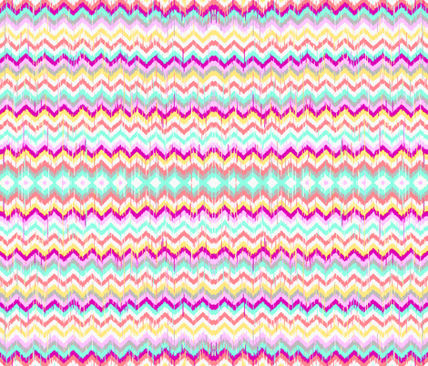 Ikat Chevron in Beach Party fabric by theartwerks on Spoonflower - custom fabric