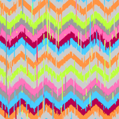 Ikat-Chevron Print in September Bright