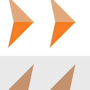 Arrows in modern orange
