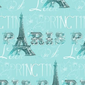 Paris in Springtime Aqua