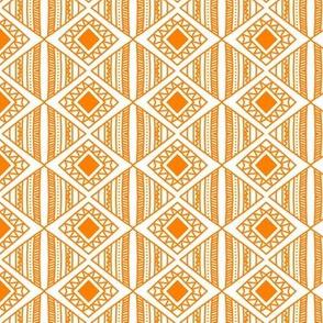 Funky orange diamond