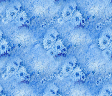 blueWattercolorPattern fabric by ltwede on Spoonflower - custom fabric
