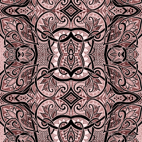 I Like a Lot of Cream with my Coffee fabric by edsel2084 on Spoonflower - custom fabric