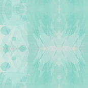 minty watercolor ikat