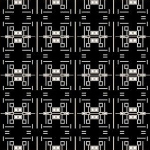 Black and Beige Contemporary Art Deco © Gingezel™