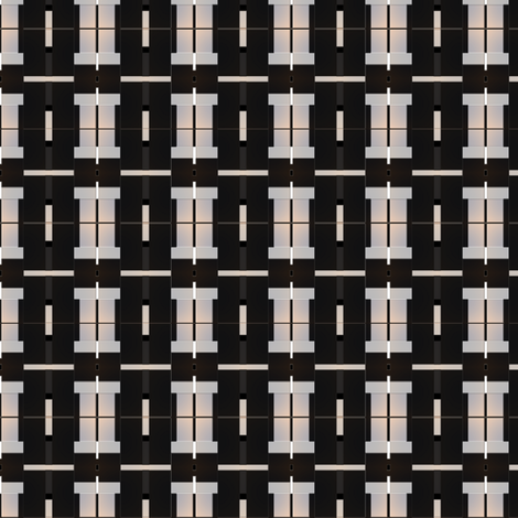 Black and Ivory Contemporary Deco Geometric © Gingezel™