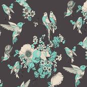 vintage_bird_floral_blk_aqua