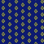Ikat in Navy and Yellow Diamonds