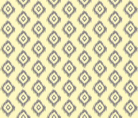Ikat Diamonds in Cream and Charcoal