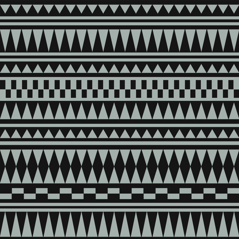 Aztec Black Dusk fabric by kimsa on Spoonflower - custom fabric
