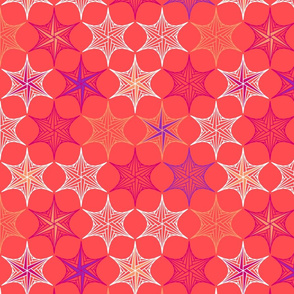 star parabola - coral - large