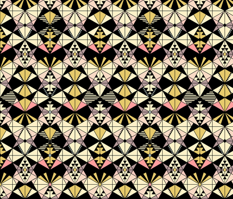 Kaleidoscope fabric by kimsa on Spoonflower - custom fabric