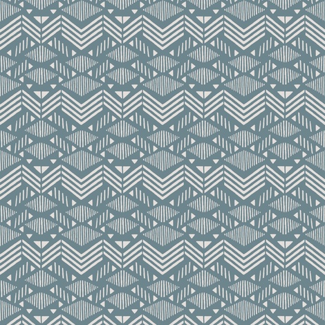 Dusk Blue Chevron fabric by kimsa on Spoonflower - custom fabric