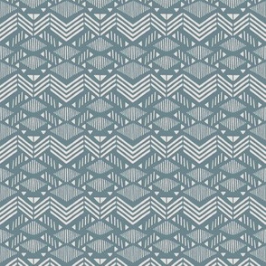 Dusk Blue Chevron