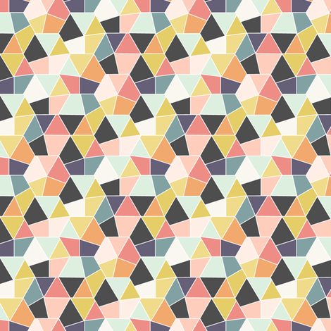 Fractured Hexagons fabric by everdawn on Spoonflower - custom fabric