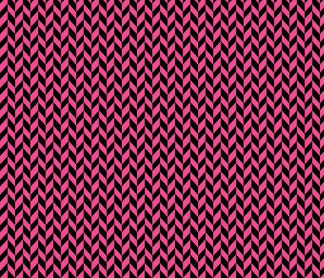 Small Pink Chevron Braid fabric by mammajamma on Spoonflower - custom fabric