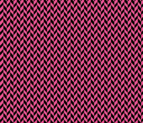 Small Pink Chevron Braid fabric by mammajamma on Spoonflower - custom fabric