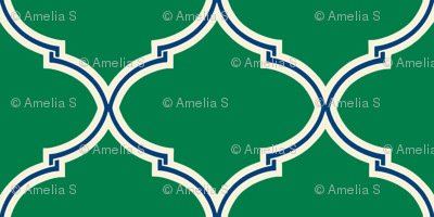 Lily Trellis in Preppy Green and Navy