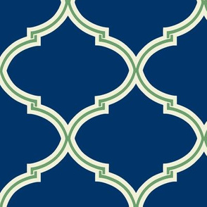 Lily Trellis in Preppy Apple Green and Navy
