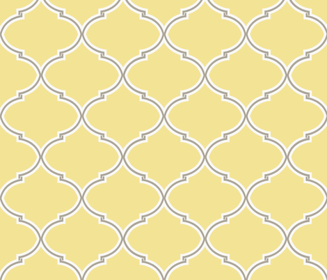 Sunshine and Cloud Lily Trellis fabric by sparrowsong on Spoonflower - custom fabric